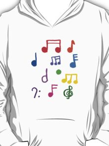 Colorful Music Notes  T-Shirt