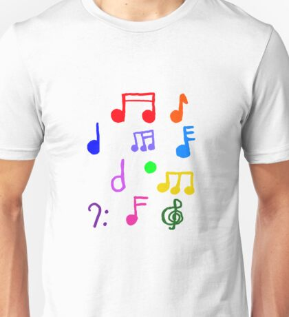 Colorful Music Notes  Unisex T-Shirt