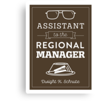 The Office Dunder Mifflin - Assistant to the Regional Manager Canvas Print