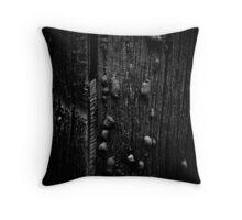 Wood and Tar Throw Pillow