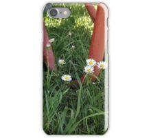 Wheelbarrow and Daisies iPhone Case/Skin