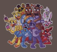 FNAF- The Gang's All Here Baby Tee