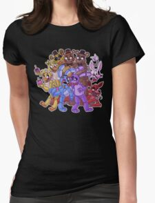 FNAF- The Gang's All Here Womens Fitted T-Shirt
