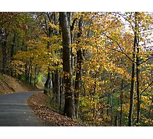 Curvy Autumn Country Road Photographic Print