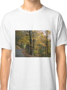 Curvy Autumn Country Road Classic T-Shirt