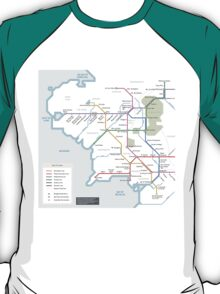 Middle Earth Transit Map T-Shirt