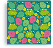 Frog Pattern Canvas Print
