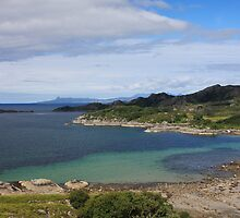 Eigg from Ardnish Peninsula. by John Cameron