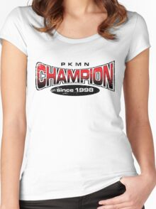Pokemon Champion_Red Women's Fitted Scoop T-Shirt