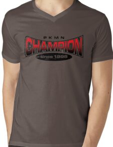 Pokemon Champion_Red Mens V-Neck T-Shirt