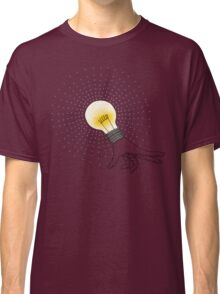 Runaway Idea lightbulb hand Classic T-Shirt