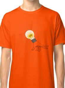 Runaway Idea lightbulb hand Classic T-Shirt