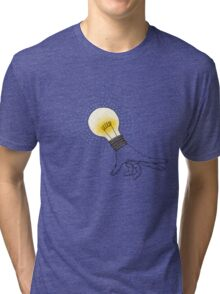 Runaway Idea lightbulb hand Tri-blend T-Shirt