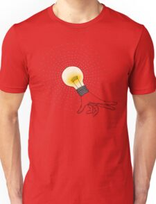 Runaway Idea lightbulb hand T-Shirt
