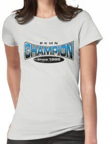 Pokemon Champion_Blue Womens Fitted T-Shirt