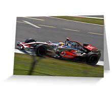 Lewis Hamilton - Silverstone 2008 II Greeting Card