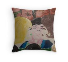 Double Kiss - Blonde and Brunette Fans - Ringo Starr Throw Pillow
