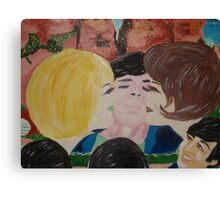 Double Kiss - Blonde and Brunette Fans - Ringo Starr Canvas Print
