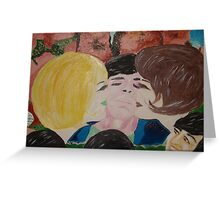 Double Kiss - Blonde and Brunette Fans - Ringo Starr Greeting Card