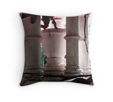 Cup in a Cemetary Throw Pillow