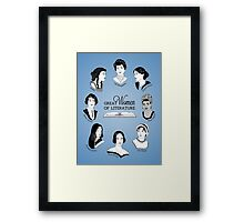 Great Women of Literature Framed Print