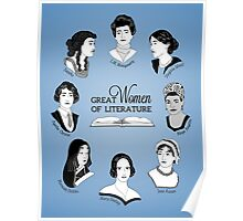 Great Women of Literature Poster