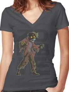 Corporate Zombie Women's Fitted V-Neck T-Shirt