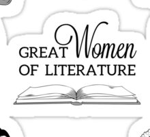 Great Women of Literature Sticker