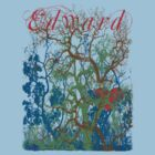 Tangled Forest with Beating Heart and the word EDWARD by Greenbaby
