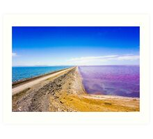 Great Salt Lake Causeway Art Print