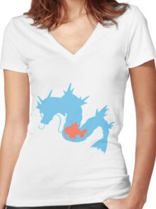 The Sea Dragon Women's Fitted V-Neck T-Shirt
