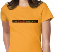 Not Playing Womens Fitted T-Shirt