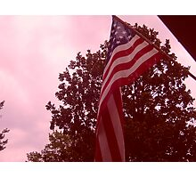American flag from a childs view Photographic Print