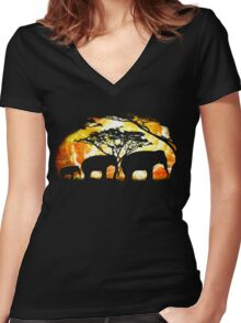caravan of the seers tee Women's Fitted V-Neck T-Shirt