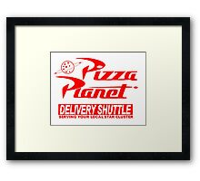 Pizza Planet Delivery Shirt Framed Print