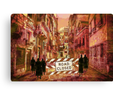 The pedestrians Canvas Print