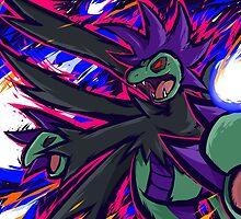Shiny Hydreigon | Draco Meteor by ishmam