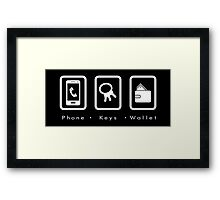 PKW- Phone Keys Wallet Check Framed Print