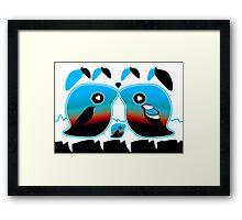 Sunrise Love Bird Family Framed Print