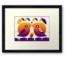 Sunset Love Bird Family Framed Print