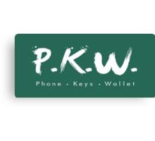 PKW- Phone Keys Wallet Check - logo Canvas Print
