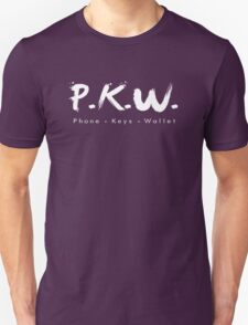 PKW- Phone Keys Wallet Check - logo Unisex T-Shirt