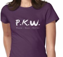 PKW- Phone Keys Wallet Check - logo Womens Fitted T-Shirt