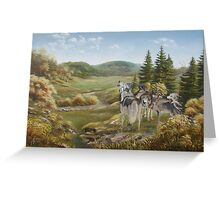 Wolves from Grandpa's Hills Greeting Card