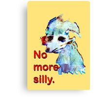 No More Silly Canvas Print
