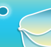 Blue Bird of Happiness Sticker