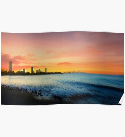 Gold Coast Sunset Poster