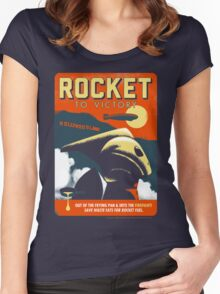 Rocket To Victory Women's Fitted Scoop T-Shirt