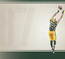 Jordy Nelson Low Poly Art by abowersock
