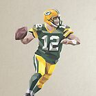 Aaron Rodgers Low Poly Art by abowersock